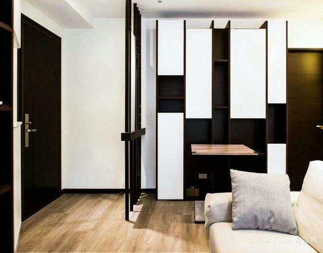 现代都市单身公寓玄关装修效果图