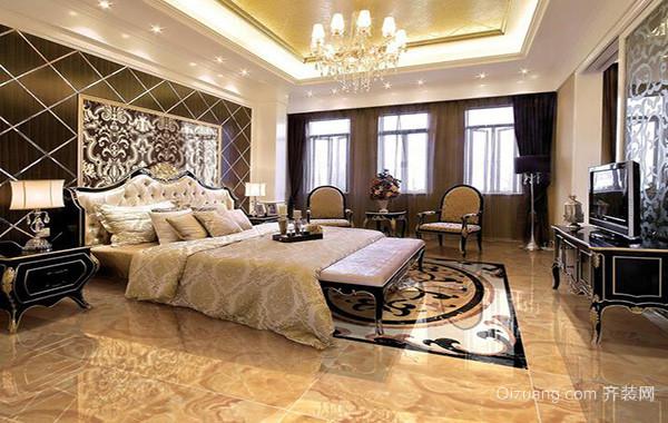120平米大户型欧式卧室背景墙装修效果图