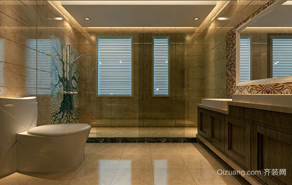 别墅型大户型卫生间装修效果图