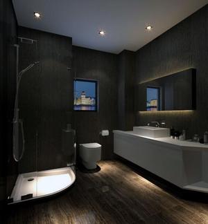 经典的大户型现代简约卫生间吊顶装修效果图