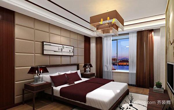 120平米别墅欧式卧室软包背景墙装修效果图