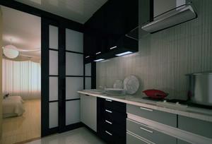 大户型欧式厨房不锈钢橱柜装修效果图鉴赏