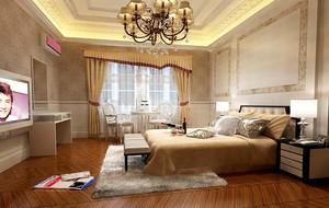 美式乡村风格卧室装修效果图