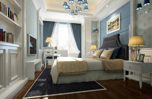 地中海风情简约卧室装修效果图