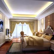 欧式卧室装修窗帘设计