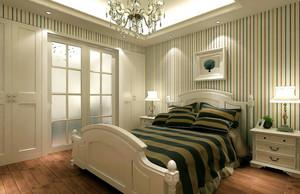 简约时尚卧室背景墙装修效果图