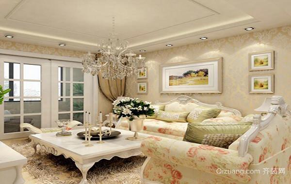 欧式风格别墅型现代家装客厅装修效果图