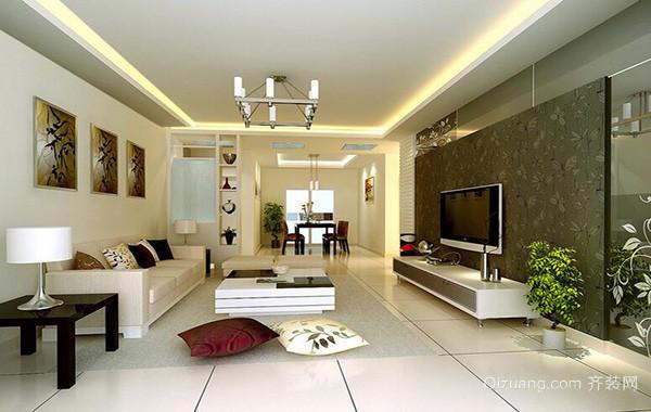 大户型现代主义风格客厅电视背景墙装修效果图