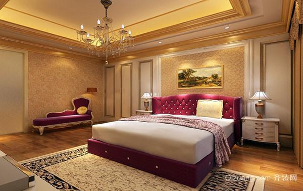 大户型欧式风格卧室吊灯装修效果图