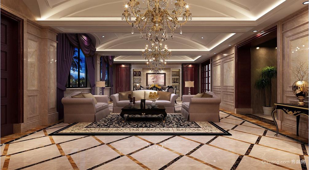 别墅型欧式奢华风格客厅装修效果图