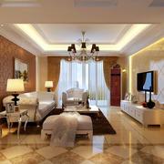 大户型简约时尚欧式风格卧室吊灯装修效果图