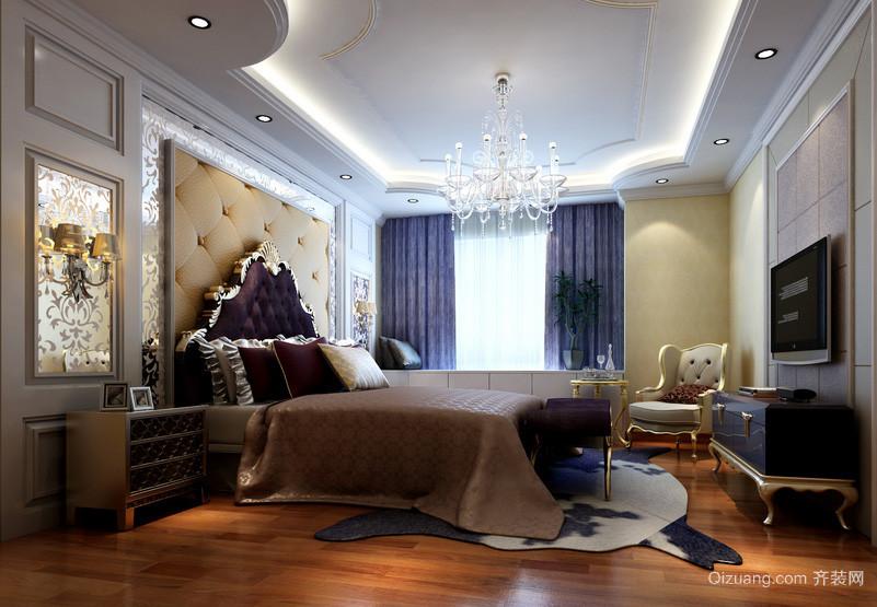 现代欧式奢华精致卧室吊灯装修效果图