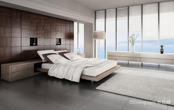 现代时尚简约卧室背景墙装修效果图赏析
