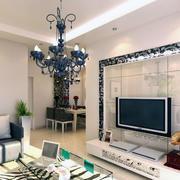 欧式大户型客厅电视背景墙装修效果图实例