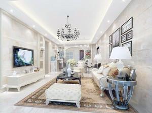 唯美的现代小户型简欧风格客厅装修效果图