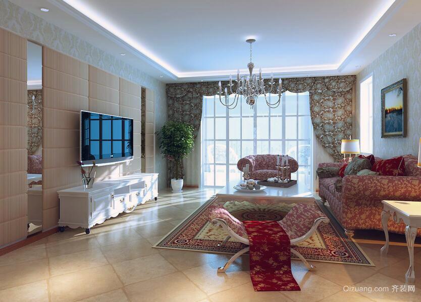 欧式现代三居室客厅装修效果图欣赏