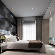 卧室低调背景墙装修图