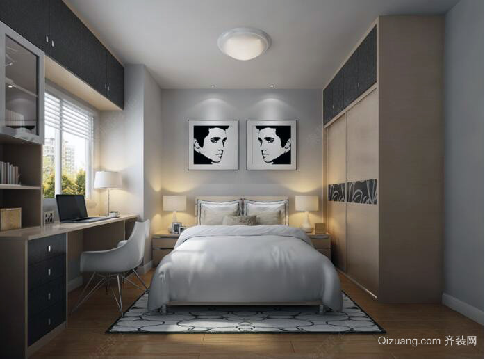 小户型现代都市精致卧室装修效果图实例