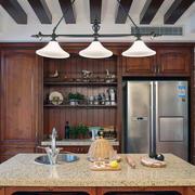 美式装修风格样板房别墅厨房装修效果图欣赏