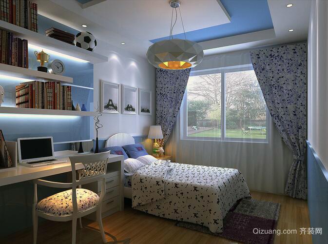 活泼动感的大户型现代儿童房装修效果图