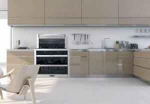 小户型现代不锈钢橱柜装修效果图实例