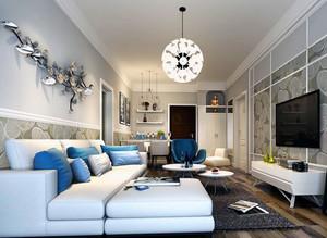 别墅型欧式客厅电视背景墙装修效果图实例