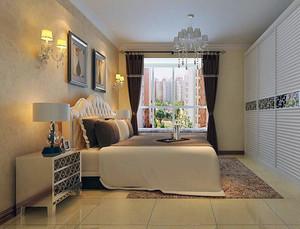 欧式别墅卧室床头背景墙装修效果图实例