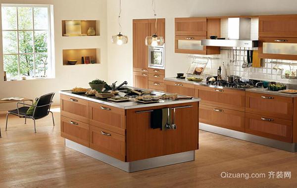 自建别墅欧式风格厨房背景墙装修效果图