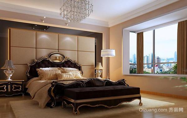 经典独特的大户型卧室软包背景墙装修效果图
