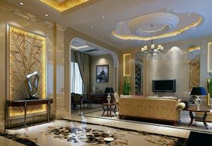 别墅家居室内客厅背景墙装修设计效果图欣赏