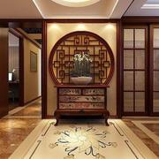 中式玄关吊灯效果图