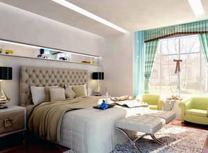 2016别墅现代主义风格卧室吊顶装修效果图欣赏
