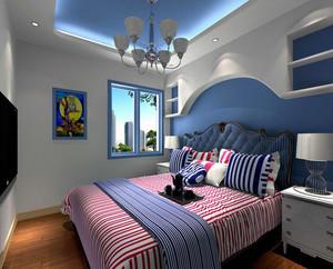 大户型现代简约儿童卧室背景墙装修效果图