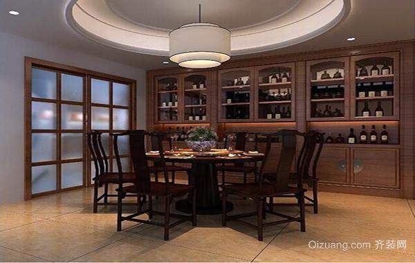 90平米大户型精致室内欧式酒柜装修效果图