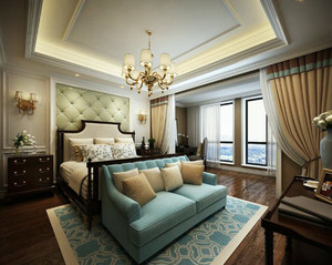 2016唯美高贵的家庭卧室背景墙装修效果图