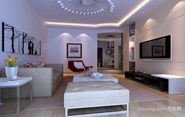 100平米大户型房屋简欧风格客厅装修效果图