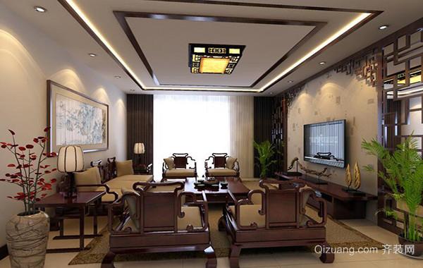 2016两室一厅中式风格客厅装修效果图