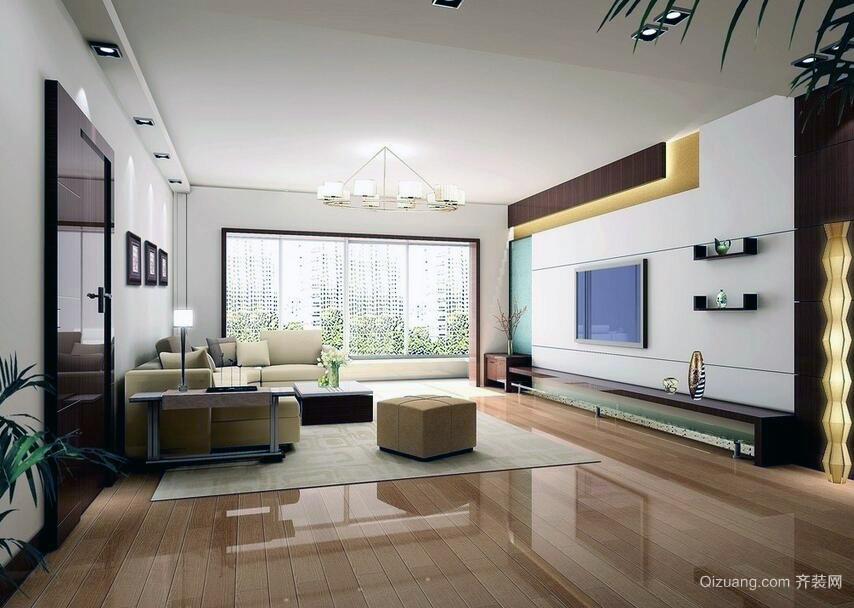 90平米欧式客厅电视背景墙装修效果图实例