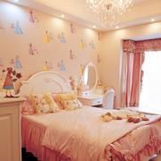 粉色系卧室效果图