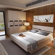 时尚卧室背景墙装修效果图