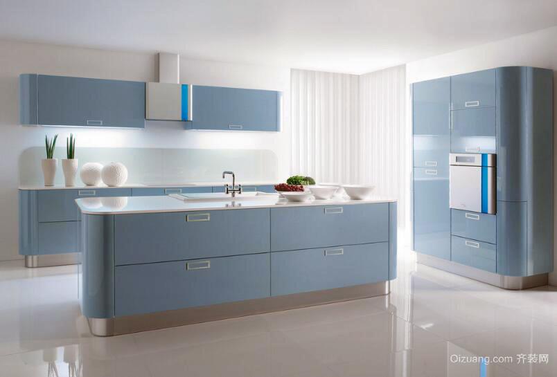 现代精致的大户型厨房室内装修效果图欣赏