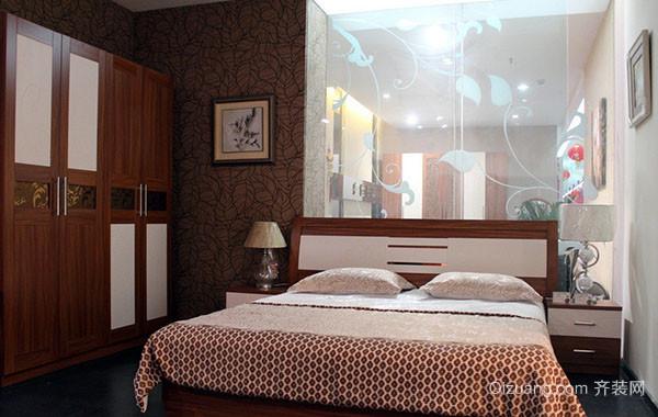 100平米二居室简约时尚卧室装修效果图