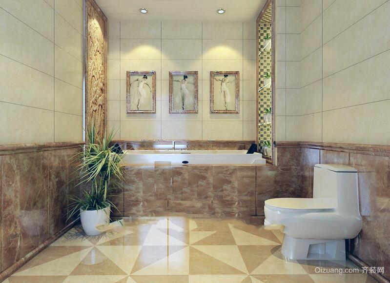 2016精致的别墅欧式卫生间装修效果图