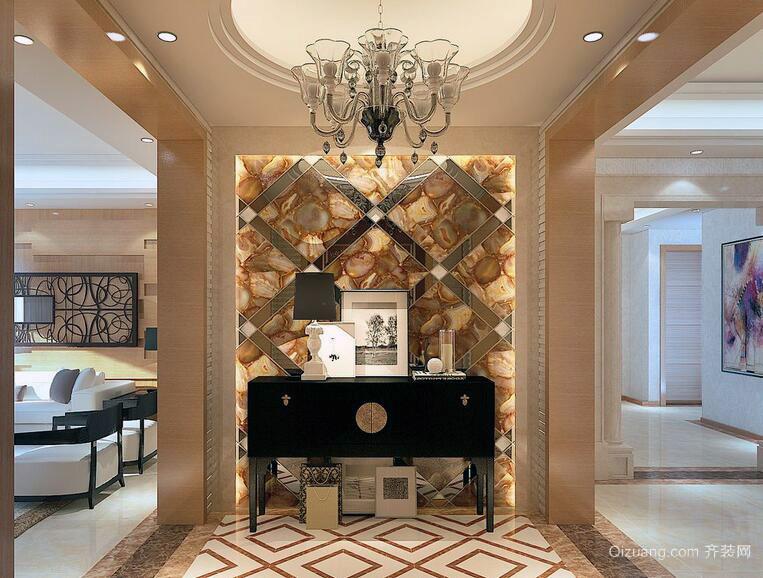 别墅型欧式风格室内玄关装修效果图欣赏