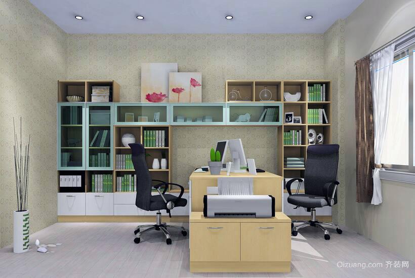 现代简约风格别墅型书房装修效果图实例