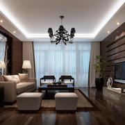 客厅复古时尚吊灯效果图