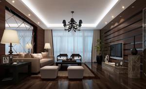 2016年现代时尚简约客厅背景墙装修效果图实例
