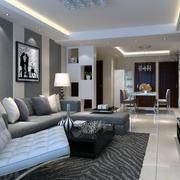 100平米经典的现代简约客厅装修效果图
