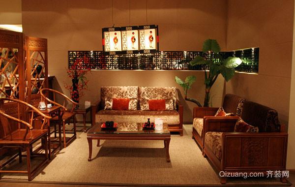 复古中式客厅装修效果图赏析