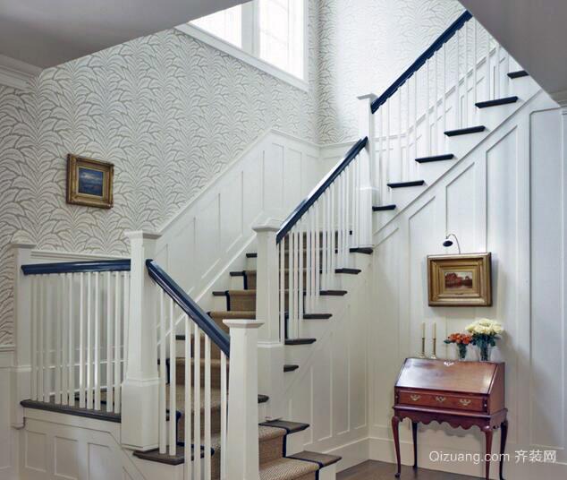 2016大户型室内楼梯设计装修效果图实例